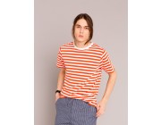 best price orange and white striped coulos t-shirt limited sale last chance
