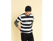 """best price black and off-white striped """"agnès b."""" coulos t-shirt limited sale last chance"""