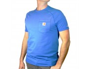 best price carhartt 102871 - force® delmont fishing graphic short-sleeve t-shirt cool blue limited sale last chance