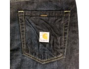 last chance carhartt b307 - series 1889® straight leg traditional fit jean dark stain limited sale best price