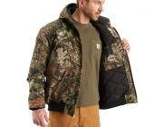 limited sale carhartt j221 - camouflage active jacket quilted flannel lined mossy oak break-up country last chance best price