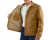 limited sale carhartt 101625 - flame-resistant lanyard access jacket quilt lined brown last chance best price