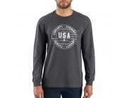 limited sale carhartt 103847 - lubbock usa graphic long sleeve t-shirt carbon heather best price last chance