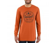 last chance carhartt 103846 - workwear hunt rugged outdoors graphic long sleeve t-shirt amberwood heather limited sale best price