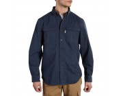 best price carhartt 101554 - foreman solid long sleeve work shirt navy limited sale last chance