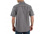 best price carhartt 104174 - relaxed fit lightweight plaid shirt black last chance limited sale