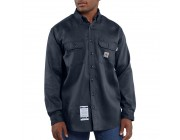 best price carhartt frs003 - flame-resistant long sleeve lightweight twill shirt dark navy last chance limited sale
