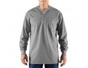 last chance carhartt 100237 - flame-resistant force® long sleeve cotton henley t-shirt light gray best price limited sale