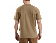 last chance carhartt 102903 - flame resistant force short sleeve t-shirt khaki best price limited sale