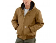 best price carhartt j140 - duck active jacket quilted flannel lined brown limited sale last chance