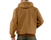last chance carhartt j131 - duck active jacket thermal lined brown best price limited sale