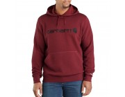limited sale carhartt 103873 - force delmont signature graphic hooded sweatshirt red brown heather best price last chance