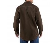 last chance carhartt 100432 - flame-resistant canvas shirt jac dark brown best price limited sale