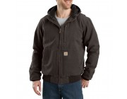 best price carhartt 103371 - full swing® armstrong active jacket fleece lined dark brown last chance limited sale