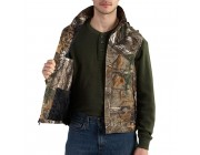 limited sale carhartt 101686 - quick duck® camo vest quilt lined realtree xtra best price last chance