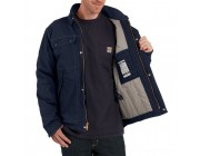 limited sale carhartt 102182 - flame-resistant full swing® quick duck® coat dark navy last chance best price