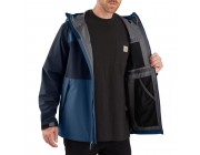 best price carhartt 104245 - storm defender® force midweight hooded jacket dark blue/navy last chance limited sale
