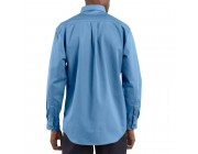 last chance carhartt frs160 - flame-resistant long sleeve twill pocket shirt medium blue best price limited sale