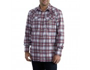limited sale carhartt 102015 - flame-resistant snap front plaid shirt navy best price last chance