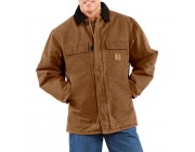limited sale carhartt c26 - sandstone duck arctic traditional coat quilt lined brown last chance best price
