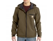 last chance carhartt 101300 - crowley nylon hooded jacket canyon brown best price limited sale