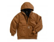 limited sale carhartt cp8489 - work active jacket- quilt taffeta lined boys brown best price last chance