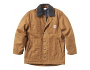 limited sale carhartt cp8539 - full swing chore coat fleece lined boys brown best price last chance