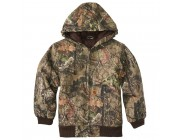 last chance carhartt cp8529 - camo active jac quilt flannel lined boys mossy oak limited sale best price