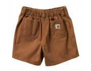 best price carhartt ch8291 - canvas rigby short boys brown limited sale last chance