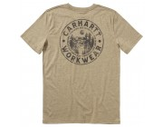 best price carhartt ca6081 - short sleeve heather graphic tee boys mustang brown limited sale last chance