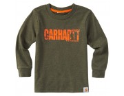 last chance carhartt ca8866 - earn that buck tee boys olive heather best price limited sale