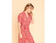 limited sale red dress with floral print last chance best price