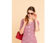 last chance pink tweed may dress best price limited sale