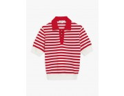 best price red and white striped pris sweater limited sale last chance