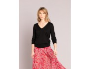 limited sale black silk and cotton sweater last chance best price