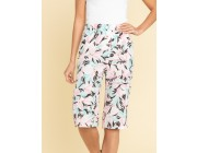 last chance bermuda shorts with tropical print limited sale best price