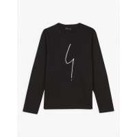 best price black long sleeves irony t-shirt limited sale last chance