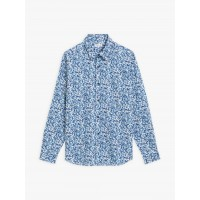 best price blue thomas shirt with small flowers print limited sale last chance