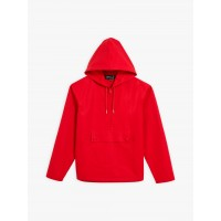 last chance red cotton men hooded jacket best price limited sale
