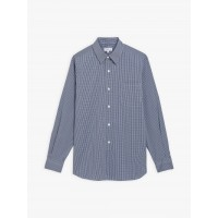 best price blue gingham planete shirt last chance limited sale