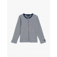 best price navy blue and white zipped be bop cardigan with stripes last chance limited sale