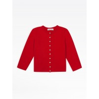 """last chance kids bright red """"12 ans"""" snap cardigan best price limited sale"""