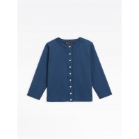 """limited sale navy blue cotton jersey """"12 ans"""" snap cardigan last chance best price"""