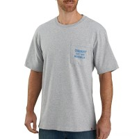 best price carhartt 104176 - pocket workwear graphic t-shirt heather gray limited sale last chance