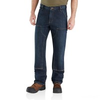 best price carhartt 103328 - double knee holter relaxed fit dungaree blue ridge last chance limited sale