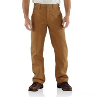 last chance carhartt frb229 - flame-resistant duck loose-original fit pant brown best price limited sale