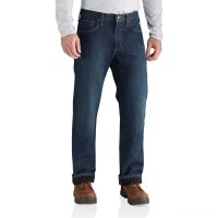 limited sale carhartt 102803 - holter fleece lined relaxed fit jean blue ridge best price last chance