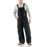 limited sale carhartt r33 - extremes® arctic zip front bib overall quilt lined black best price last chance