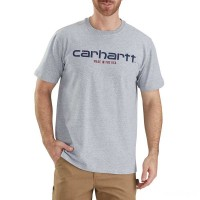 best price carhartt 103181 - lubbock graphic made in usa short sleeve t-shirt heather gray limited sale last chance