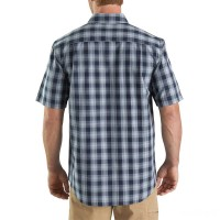best price carhartt 103005 - essential plaid button down short sleeve shirt brown limited sale last chance
